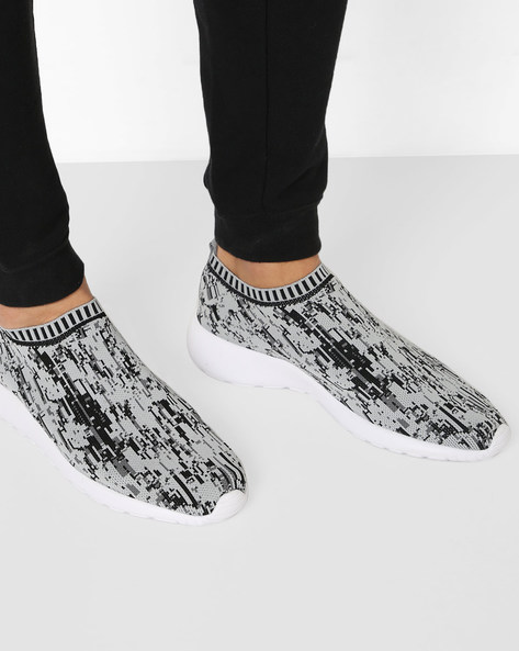Abstract Print Slip-On Shoes By AJIO ( Grey )