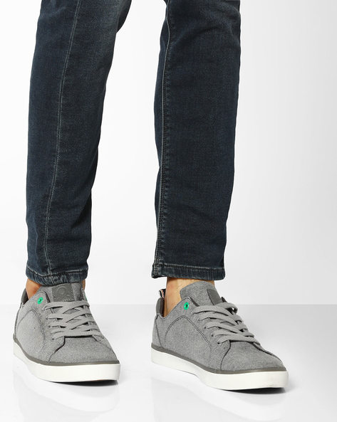 Canvas Low-Top Sneakers By UNITED COLORS OF BENETTON ( Grey )