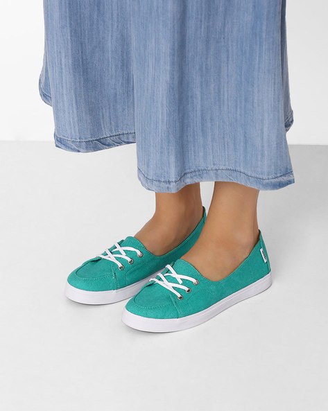 Canvas Casual Shoes By Vans ( Green )