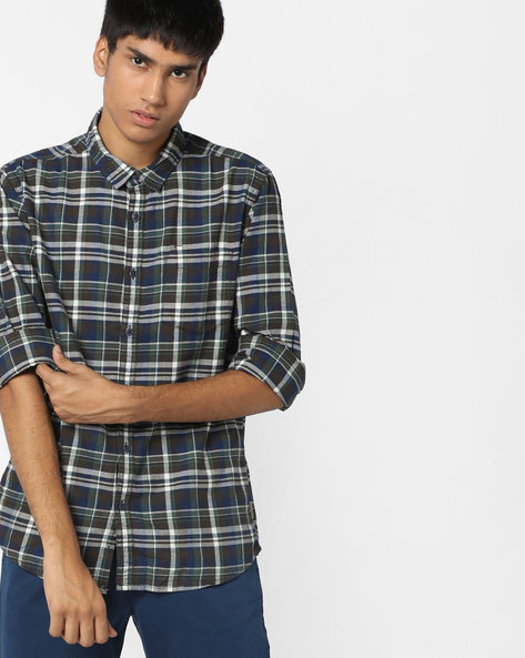 Checked Shirt With Patch Pocket By FLYING MACHINE ( Assorted )