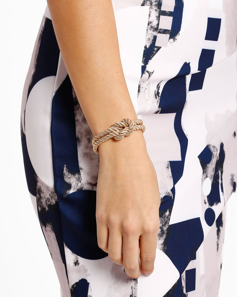 Knotted Rope Bracelet By Style Fiesta ( Gold )
