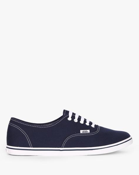 Authentic Lo Pro Canvas Lace-Up Shoes By Vans ( Blue )