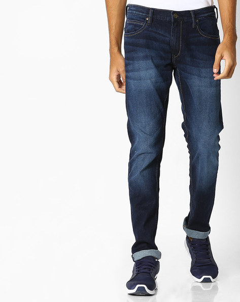 Lightly Washed Skinny Fit Jeans By Lee ( Blue ) - 460065583002