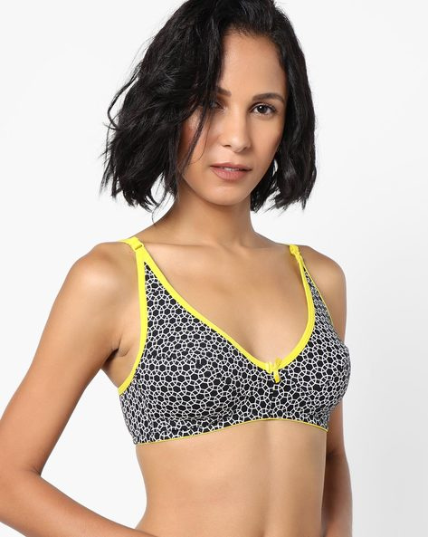 Printed Non-Padded Bra By Clovia ( White )