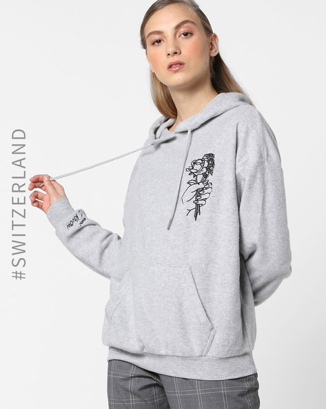 Hooded Sweatshirt With Kangaroo Pocket By TALLY WEiJL ( Grey )