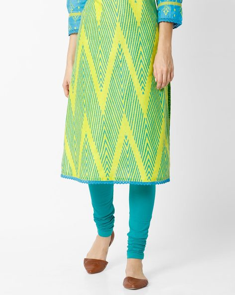 Churidar Leggings With Elasticated Waistband By AVAASA MIX N' MATCH ( Green )