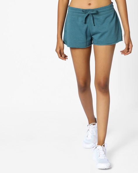Mid-Rise Shorts With Drawstring Waist By Ginger By Lifestyle ( Green )