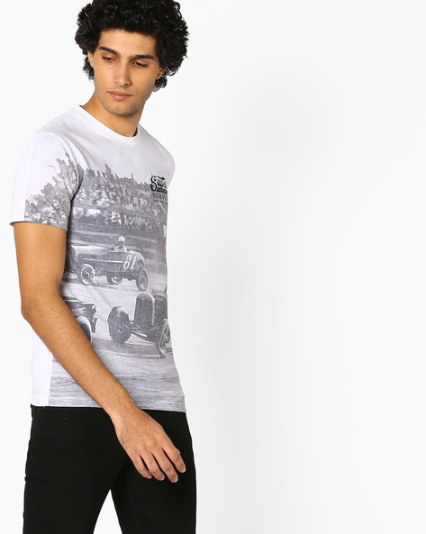 Photographic Print Crew-Neck T-shirt By SUPERDRY ( Am6 )