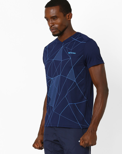 Quick Dry Training T-shirt By PERFORMAX ( Navy )