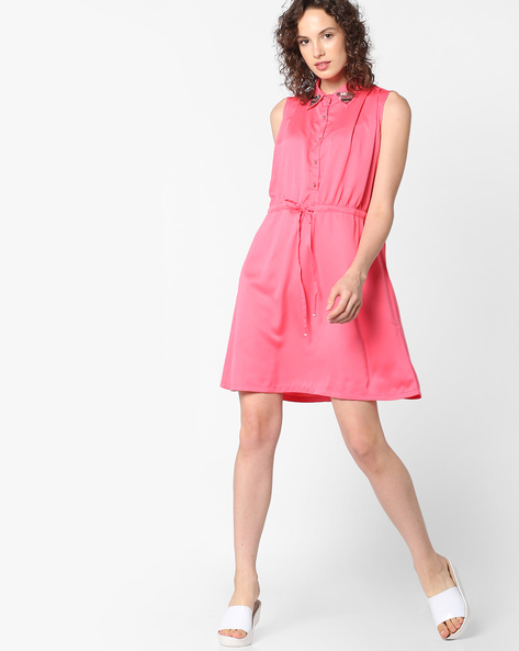 Sleeveless Tunic With Button Placket By Project Eve WW Evening ( Peach )