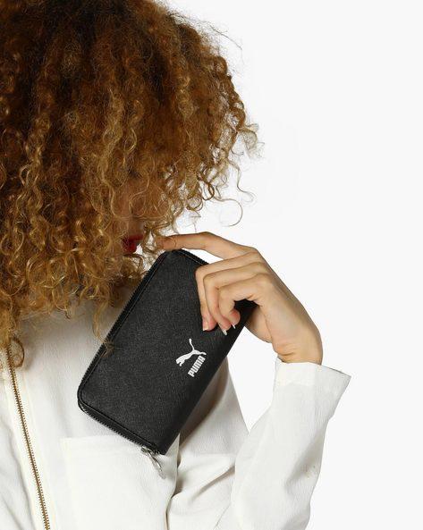Textured Zip-Around Wallet By Puma ( Black )