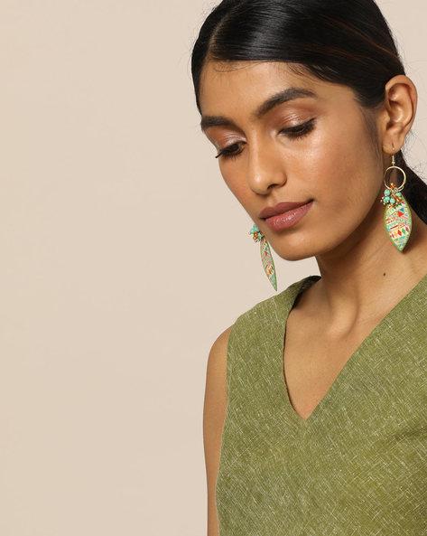 Beaded Dangler Earrings By Indie Picks ( Multi ) - 460121370001