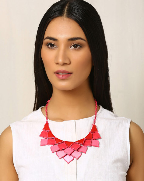 Metal Necklace By Indie Picks ( Pink )