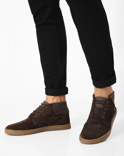 Lace-Up Leather Casual Shoes By USPA ( Brown )