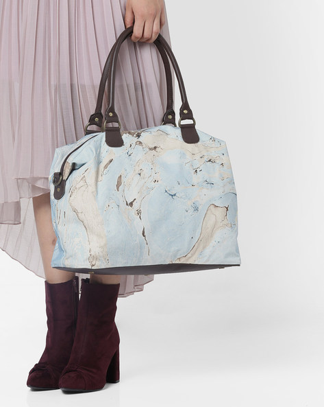 Printed Canvas Handbag By Project Eve ( Multi )
