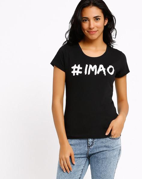 Graphic Print T-shirt By AJIO ( Black ) - 460002340009