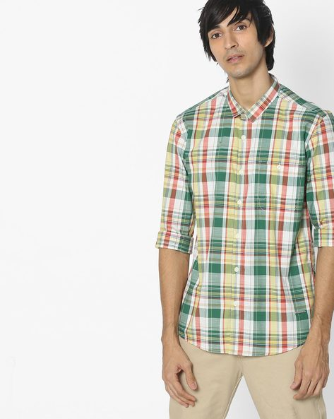 Cotton Checked Shirt By VOI JEANS ( Multi )