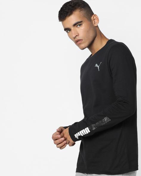Graphic Print Slim Fit T-shirt By Puma ( Black )