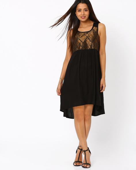 High-Low Dress By Akkriti By Pantaloons ( Black )