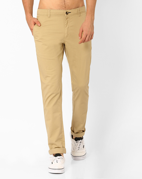 Corded Dobby Chinos By NETPLAY ( Khaki )