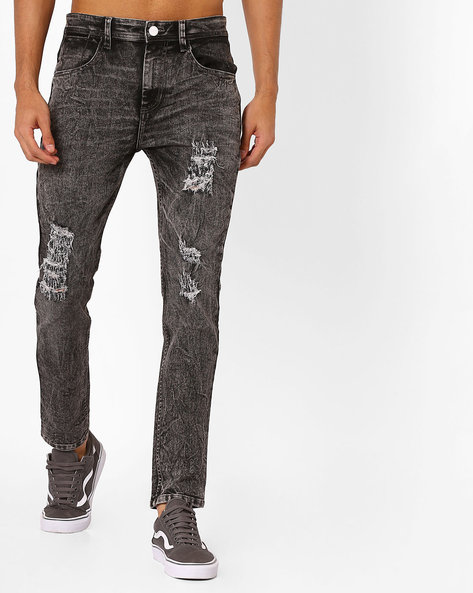 Skinny Fit Denims By ADAMO LONDON ( Grey )