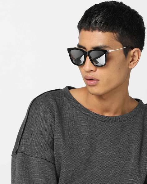 Mirrored Wayfarer Sunglasses By TEDSMITH ( Silver )