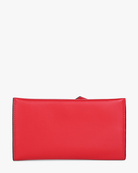 Bi-Fold Wallet With Snap-Button Closure By E2O ( Red )