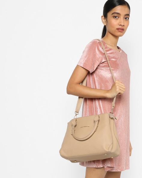 Handbag With Detachable Strap By Lino Perros ( Beige )
