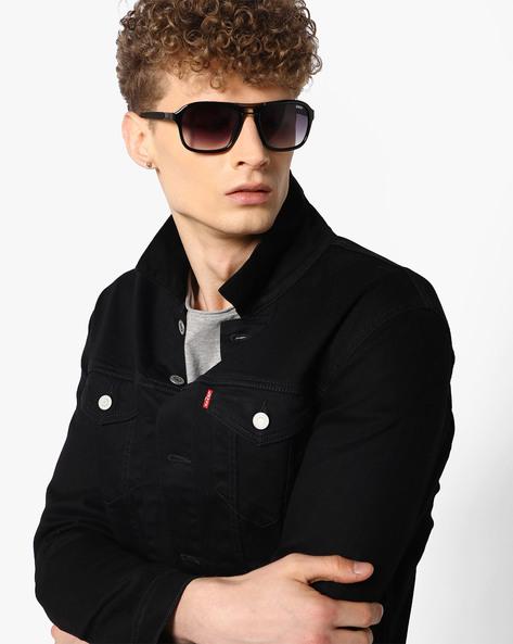 Graduated Oversized Sunglasses By Idee ( Black )