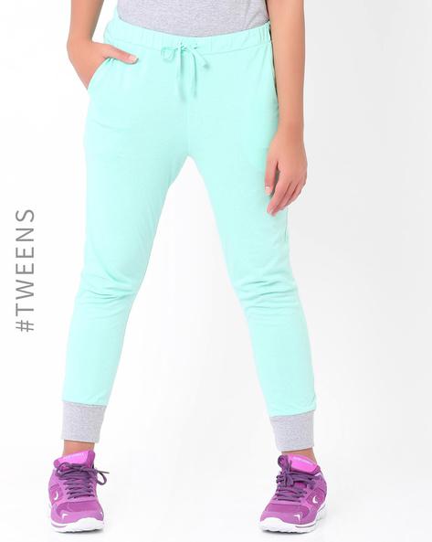 Cuffed Track Pants By AJIO Girl ( Seagreen )