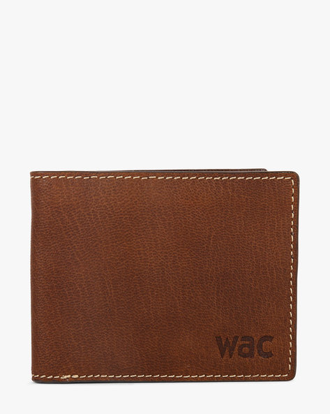Textured Bi-Fold Leather Wallet By WRANGLER ( Tan )