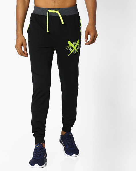 Cotton Joggers With Drawstring Fastening By JOHN PLAYERS ( Lime )