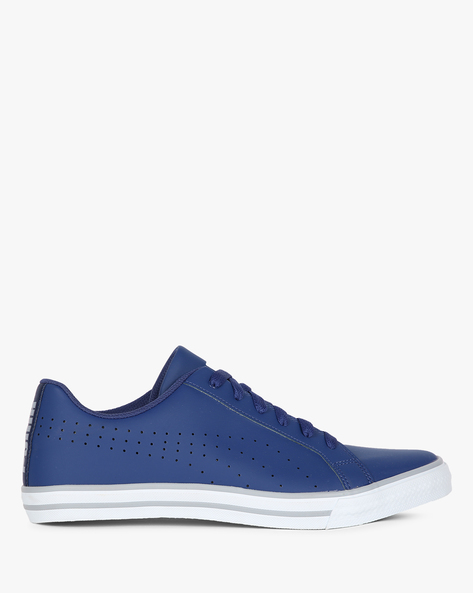 Rick Point NU IDP Lace-Up Casual Shoes By Puma ( Blue )