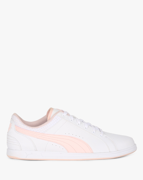 Ikaz V2 Panelled Low-Top Lace-Up Shoes By Puma ( White )