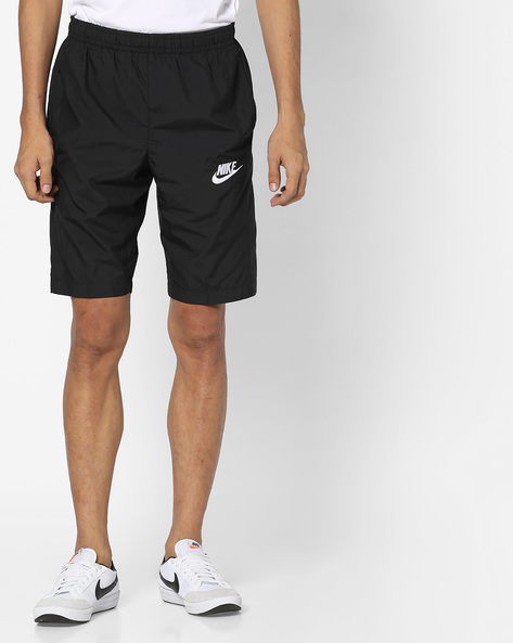Sports Shorts With Elasticated Waist By NIKE ( Black )