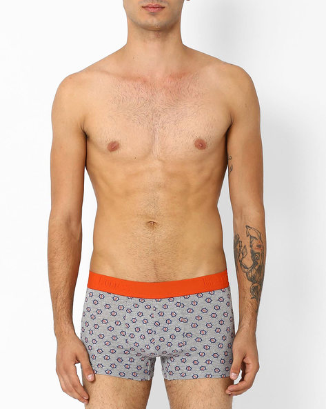 Printed Cotton Trunks By HANES ( Assorted )