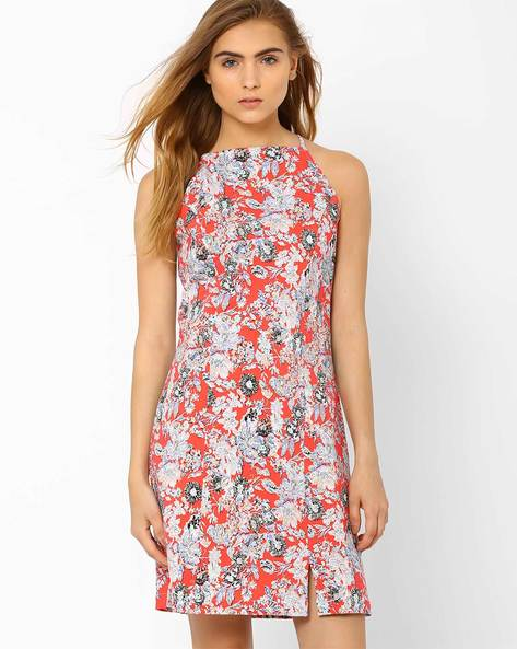 Floral Print Shift Dress By RIDRESS ( Multi )