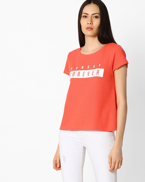 Printed Top With Short Sleeves By Vero Moda ( Pink )