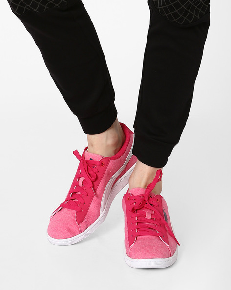 Modern Soleil Jersey Casual Shoes By Puma ( Pink )