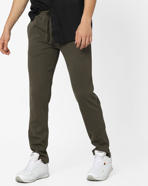 Knitted Track Pants With Drawstring Fastening By Teamspirit ( Olive )