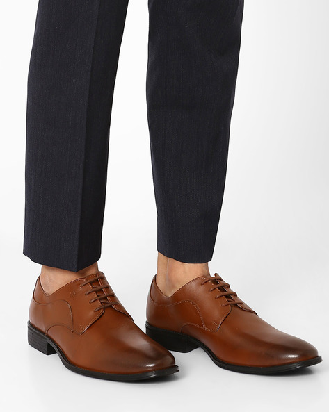 Leather Derby Shoes By ARROW ( Tan )