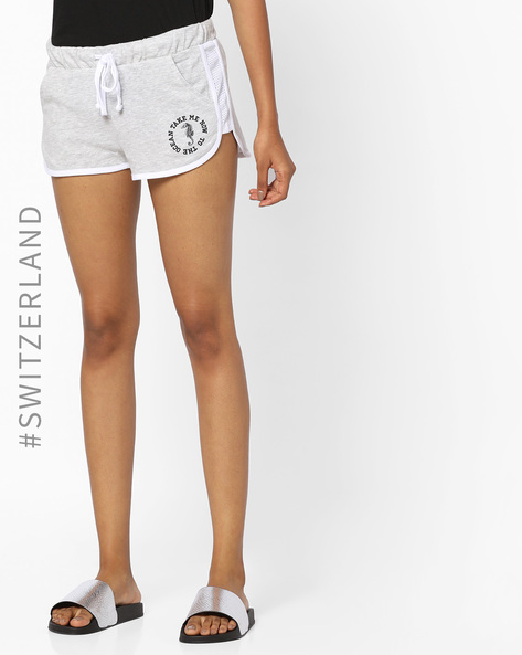 Shorts With Waist Tie-Up By TALLY WEiJL ( Grey )