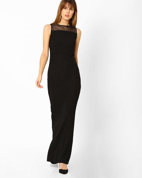 Sleeveless Maxi Gown By And ( Black )