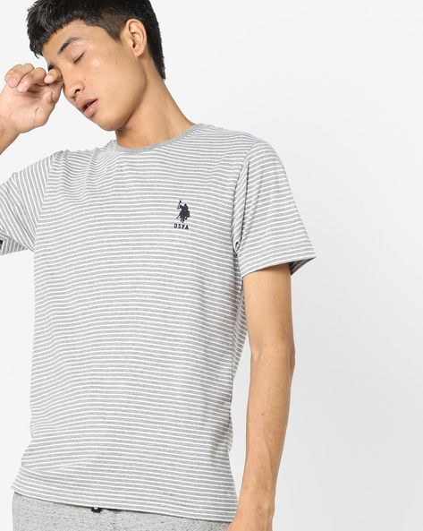 Striped Crew-Neck T-shirt By US POLO ( Assorted )