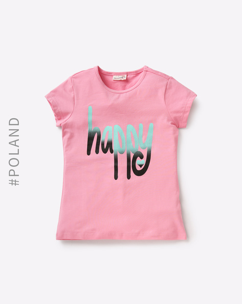T-Shirt With Typographic Print By COCCODRILLO ( Pink )