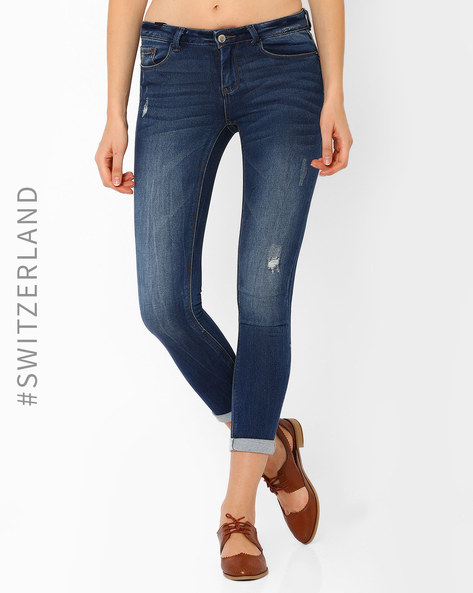 Low-Rise Skinny Jeans By TALLY WEiJL ( Blue )