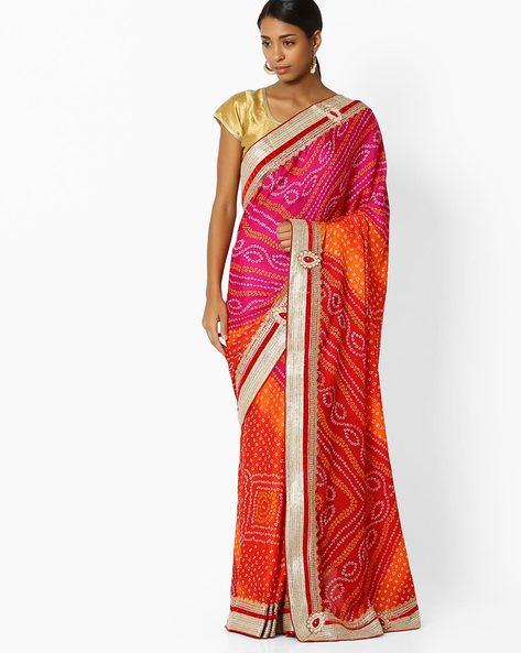Printed Designer Saree With Zari Embroidery By Shonaya ( Multi )