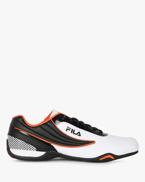 Dawn Panelled Lace-Up Shoes By FILA ( White )