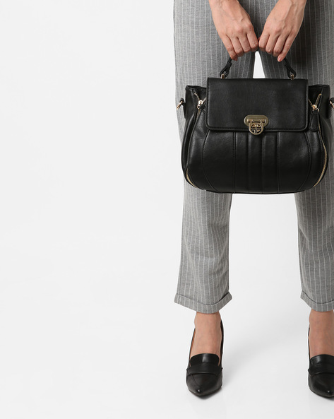 Panelled Sling Bag By Carlton London ( Black )