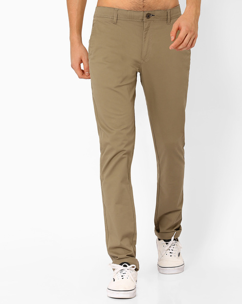 Corded Dobby Chinos By NETPLAY ( Olive )